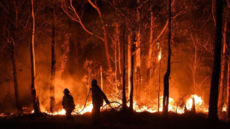 Wildfires spread across Australia.