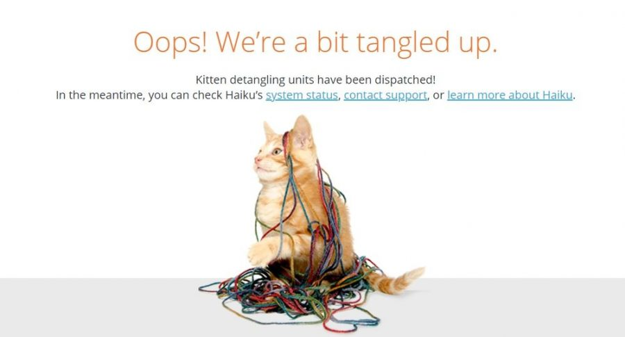 This is an image many students are seeing when the popular site Haiku crashes
