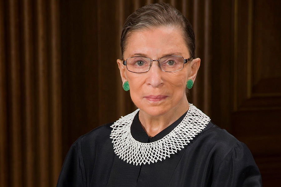 This is a picture of Ruth Bader Ginsburg, a feminist icon and former justice on the Supreme Court.