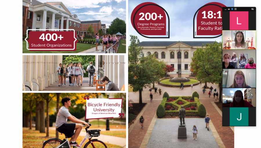 Hutchison+students+attend+a+virtual+college+visit+with+The+University+of+Arkansas.