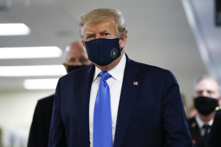 President Trump in a Mask.