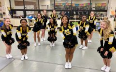 Dance Team dressed up in their uniforms,