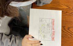 Estelle Turner looks at a map of the Byhalia Pipeline.