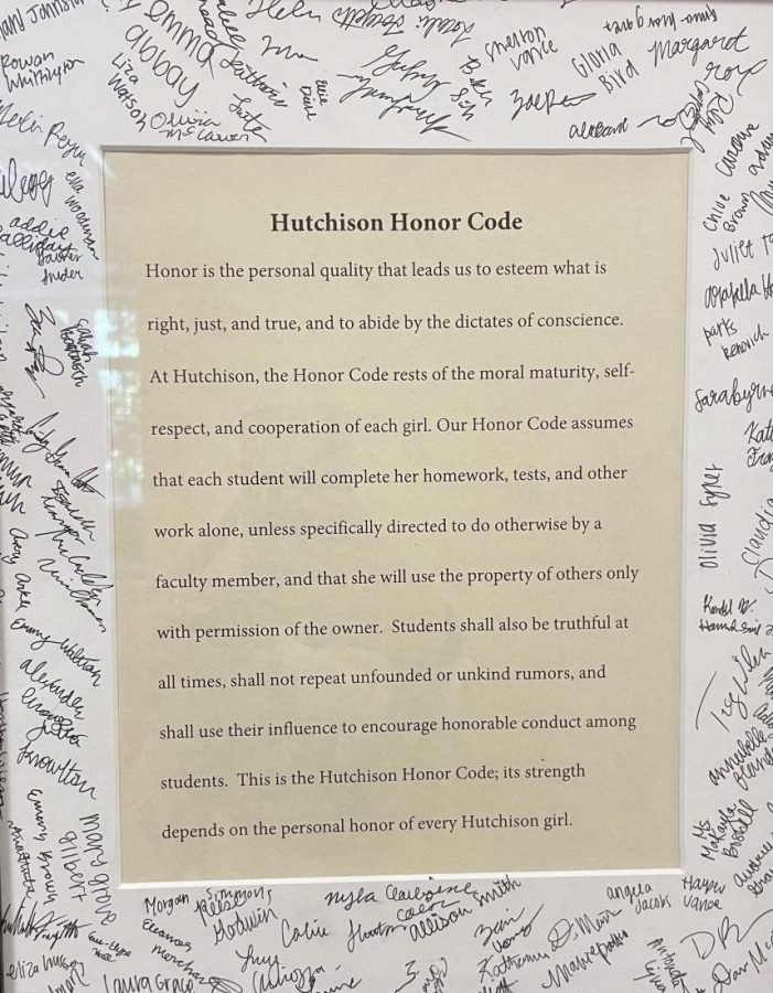 The signed class of 2025 honor code